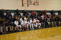 The Varsity guys supporting the middle school guys during their thrilling victory over Frederick Christian in 4 OT